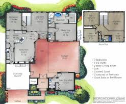 shaped house plans with courtyard more intimacy mediterranean house plans the courtyard custom home palm coast