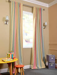 Blackout Curtains For Nursery Yellow And Coffee Striped Linen Brief Blackout Curtains