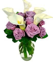 Calla Flower Calla Lily And Purple Rose Bouquet At From You Flowers
