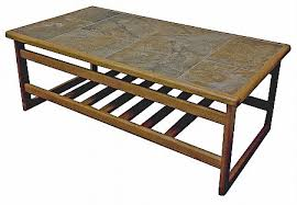 tile top coffee table anbercraft mocha tile top large coffee table