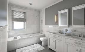 white and gray bathroom tjihome