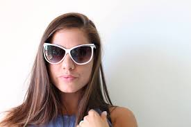 nos 1980s mod sunglasses white oversized retro hipster