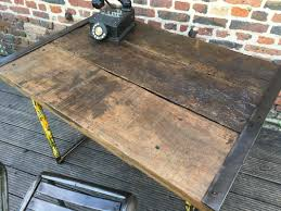 bureau industriel metal bois bureau industriel métal et bois lequai pro