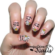 love me nots nail wraps nail stickers hand painted nail art