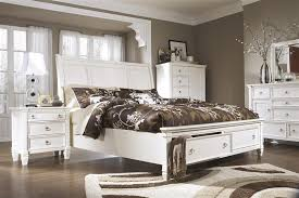 King White Bedroom Sets Bedroom Beautiful Prentice King Storage Bedroom Set By Ashley
