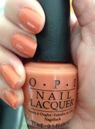 my favorite fall nail polish shade opi freedom of peach u2013 never