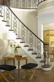 Wrought Iron Banister Stair Awesome Home Interior Design With Stair Using Black Wrought