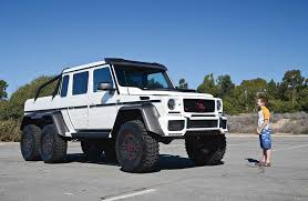mercedes pickup truck 6x6 driving the insane brabus g63 700 6x6