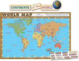 Algeria World Map World Map Repositionable Bulletin Board Display Set Tcr4410