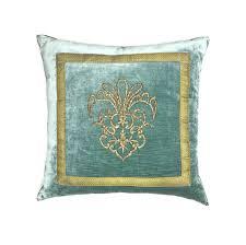 Antique Ottoman 21 X 21 Antique Ottoman Empire Raised Gold Metallic Embroidery