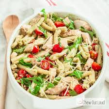 chicken pasta salad pesto pasta salad with grilled chicken chew out loud