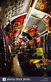 fabric shop covered coved ceiling camden market london england