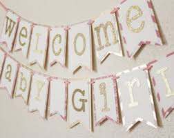 baby shower banners light pink and gray baby shower banner welcome baby girl