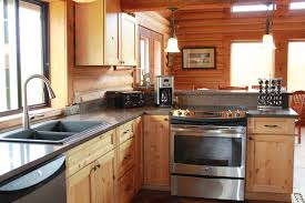 Log Cabin Kitchen Cabinets A Little Upgrade To The Log Cabin Spoons Rock Creek Cabin Montana