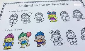 free ordinal numbers coloring pages