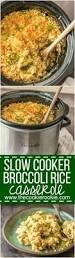 crockpot thanksgiving recipes slow cooker broccoli rice casserole the cookie rookie