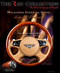 bentley steering wheel bentley mulsanne steering wheel with sapelli video u2014 automotive