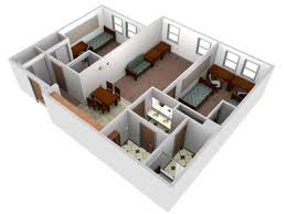 4 room house 3d room views housing