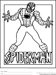 spiderman coloring pages ginormasource kids