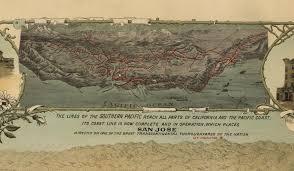Zip Code San Jose Map by San Jose Ca Birds Eye View Map 1901