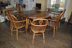 Yew Dining Table And Chairs Circular Elm Yew Dining Table Real Wood Studios