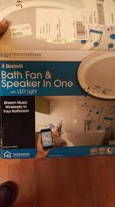 bath fan and speaker in one home netwerks decorative white 100 cfm bluetooth stereo speaker
