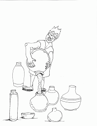 jesus turns water into wine bible coloring pages sketch coloring