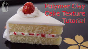 how to make cake texture polymer clay tutorial by talty youtube