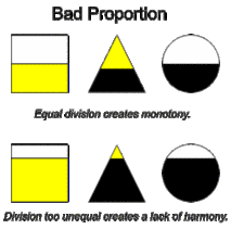 visual layout meaning elements of visual design proportion