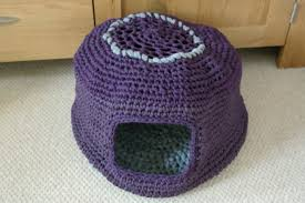 knitting pattern cat cave crochet cat nest guy who crochets