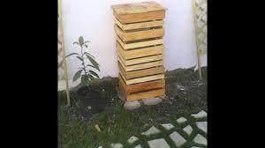Table De Jardin En Palette De Bois composteur bois de palette do it yourself youtube
