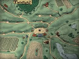 The Shire Map Art My First Fully Colored Town Map A Halfling Town Inspired By