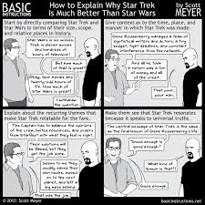 how to explain why star trek is much better than star wars u2014 basic