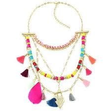 beaded tassel necklace images Colorful beaded tassel necklace mygearglobal jpeg