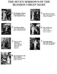 rosary of the seven sorrows the 7 sorrows of blessed the seven sorrows of the