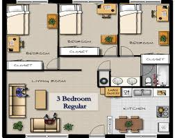 Large Apartment Floor Plans by 1 6 Bed Apartments King Henry Apartments