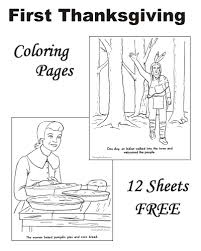 story of the thanksgiving coloring pages