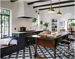 Kitchen Flooring Installation Black And White Kitchen Floor Tiles The Best Option Kitchen