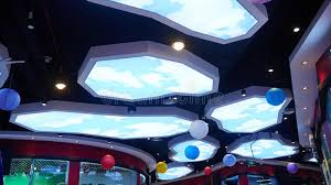 Used Ceiling Lights Led Ceiling Light Used In Shopping Mall Stock Image Image Of
