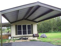 Mobile Awnings Home Metal Roof Awning Carport La Vernia