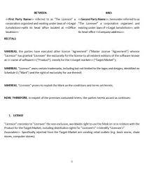 ne0227 trademark license agreement template u2013 english u2013 namozaj
