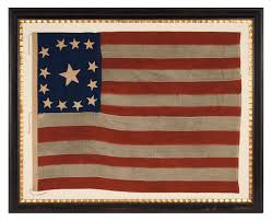 Painting A Flag Jeff Bridgman Antique Flags And Painted Furniture 13 Stars In A