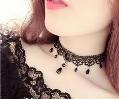 velvet collar necklace images Fashion black velvet choker necklace statement collier jewelry jpg