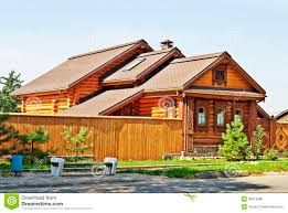 beautiful wooden house royalty free stock photos image 30313998