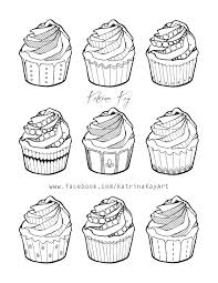coloring book page cupcakes by katoons88 on deviantart