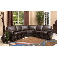 Abbyson Living Arizona  Piece Leather Sectional Sofa In Dark - Sofa in leather