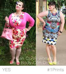 can plus size women wear body con dresses