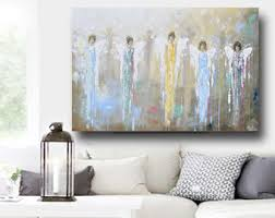 Spiritual Home Decor Giclee Print Art Abstract Angel Painting Acrylic Painting Home