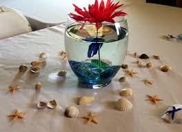 betta fish arrangements nautical theme baby shower centerpieces