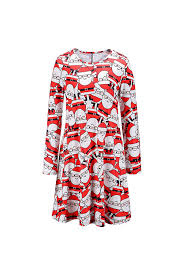 women u0027s christmas santa claus print party dress u003e u003e u003e check this